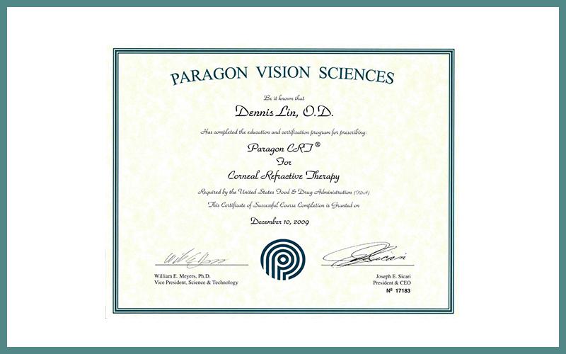 Paragon Vision Sciences Award