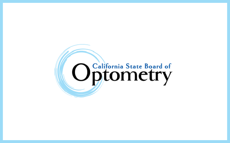 Licensed with the California State Board of Optometry