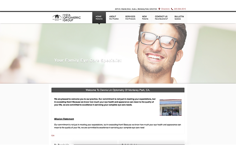 Welcome to our new Vista Optometric Group Website