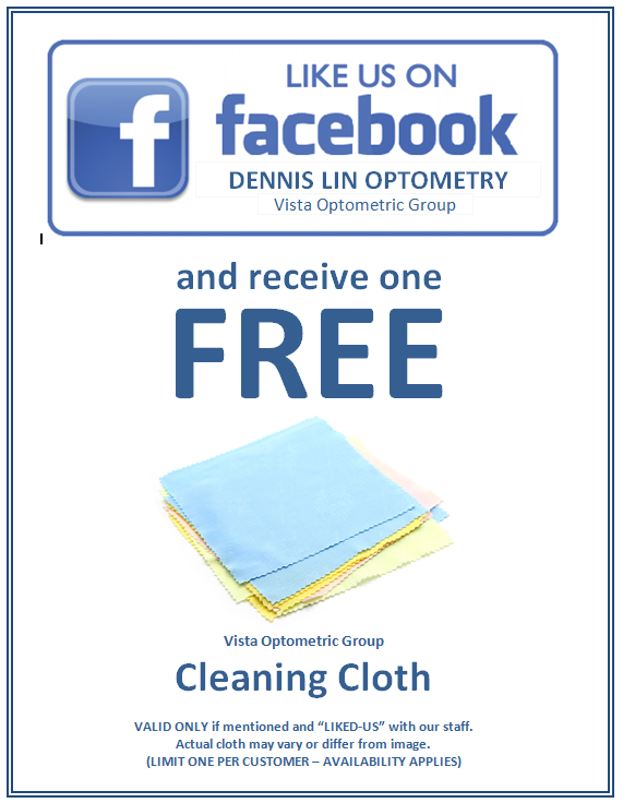 LIKE US on facebook and receive one FREE cleaning cloth when you drop in just to say hello.