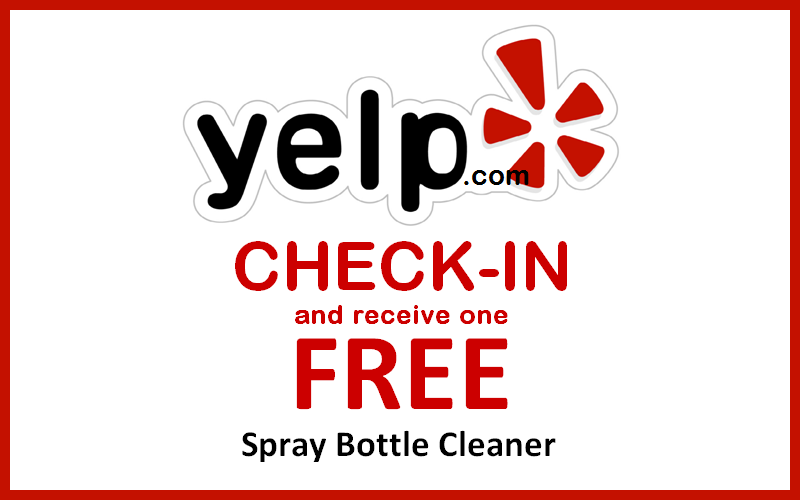 CHECK-IN and receive a FREE Lens Cleaner Spray Bottle during your same day EXAM VISIT.