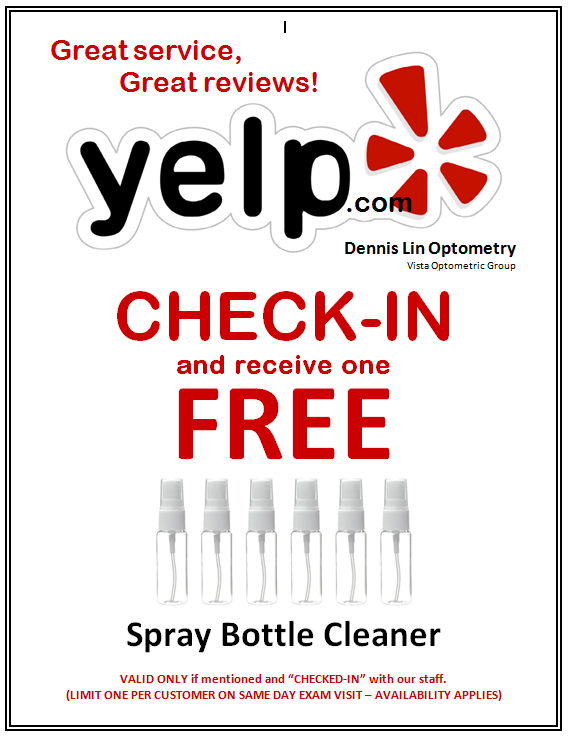Check In with Yelp and get a FREE Cleaner