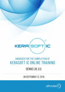Kerasoft IC Online Training Completion Award