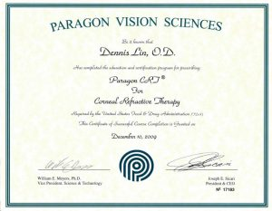 Paragon Vision Sciences - Paragon CRJ for Corneal Refractive Therapy Certification